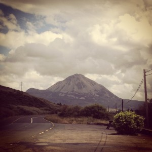 errigal mountain gweedore view donegal ireland