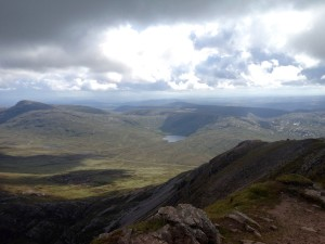 Errigal summit view donegal april ireland