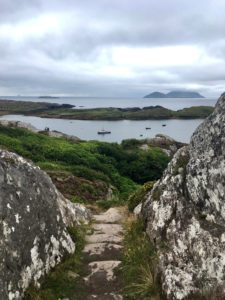 Scarriff & Deenish islands from Derrynane mass path Kerry way walking route Wild Atlantic Way Ireland