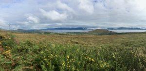 Kenmare river vista Kerry Way walking trail Coad mountain Staigue to Caherdaniel Wild atlantic Way Ireland