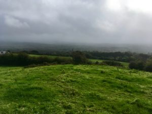 view from slieve bloom mountains laois ireland