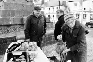 Thompsons vegetables Abbeyleix market Ireland January winter