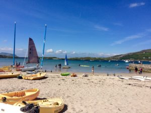 summer says at Derrynane beach Wild Atlantic Way Kerry Ireland