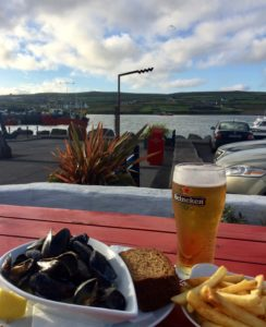summer supper at the moorings portmagee skelligs ring kerry ireland