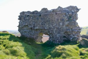 View from inside the curtain wall Rock of Dunamaise Laois Irelands Ancient East