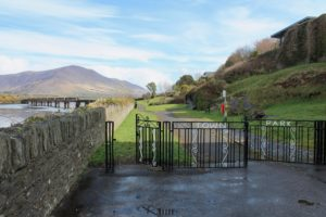 Town Park gate next to the Old Barracks Cahersiveen, Kerry Ireland Wild Atlantic Way