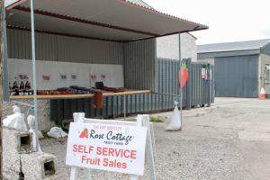 Rose cottage fruit farm Laois honesty box