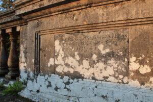Inscription of the history of Tower Bridge, Ballyrafton Kilkenny
