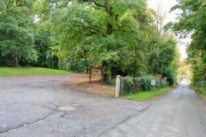 Entrance to Ballyrafton woods Kilkenny Ireland